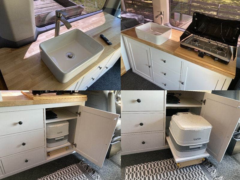 Picture 4/11 of a 2015-2021 Ford Transit modular camper van build for sale in Pearland, Texas