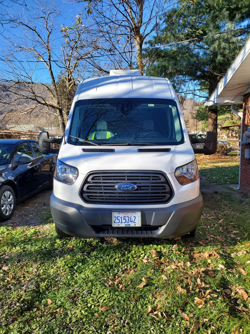 Picture 3/15 of a 2018 Ford Transit 250 High Roof Medium Length Full Sleeper with Cargo Bay  for sale in Asheville, North Carolina