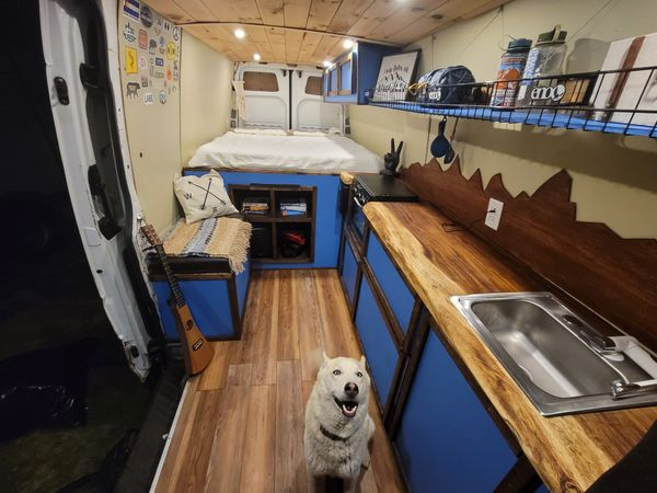 Photo of a campervan for sale: (SOLD) 2007 off Grid sprinter for full time living