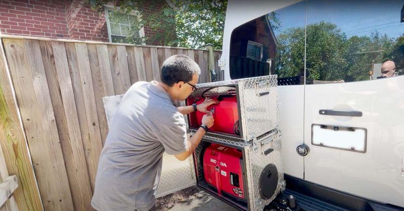 Picture 2/11 of a Off Grid Stealth Van w/ Garage + Solar & Generator for sale in Arlington, Virginia