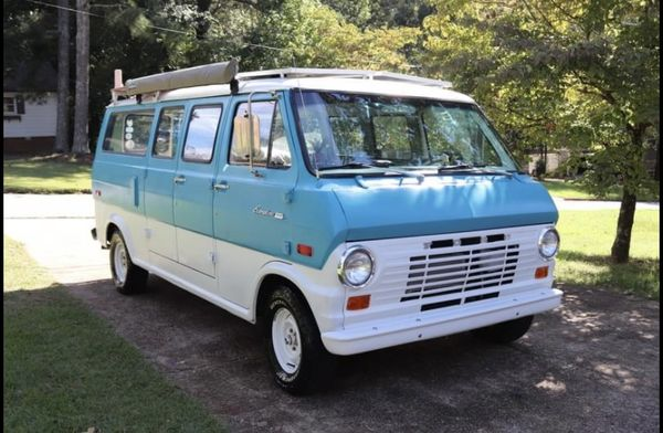 Photo of a campervan for sale: 1970 Ford E100 Supervan Camper Conversion