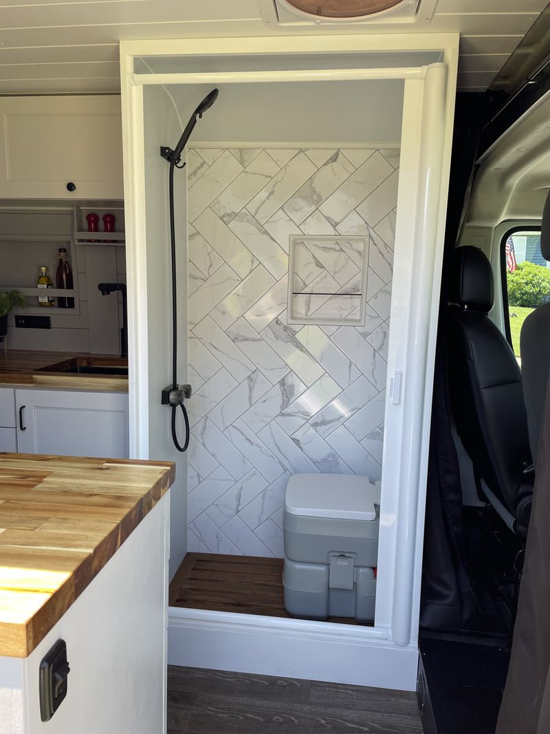 Picture 2/13 of a 2019 Ram Promaster Campervan with full size shower for sale in Mount Holly, New Jersey