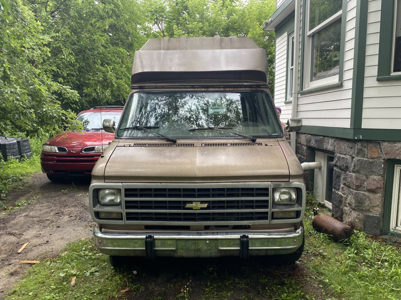 Picture 1/14 of a Converted 1995 Chevy G30 Van Extended Height for sale in Ann Arbor, Michigan