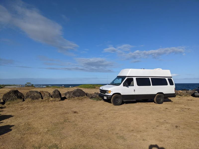 Picture 1/8 of a 1999 high top ford e350 solar powered 2000w for sale in Honolulu, Hawaii