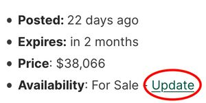 How to update your listing's availability on Vancamper